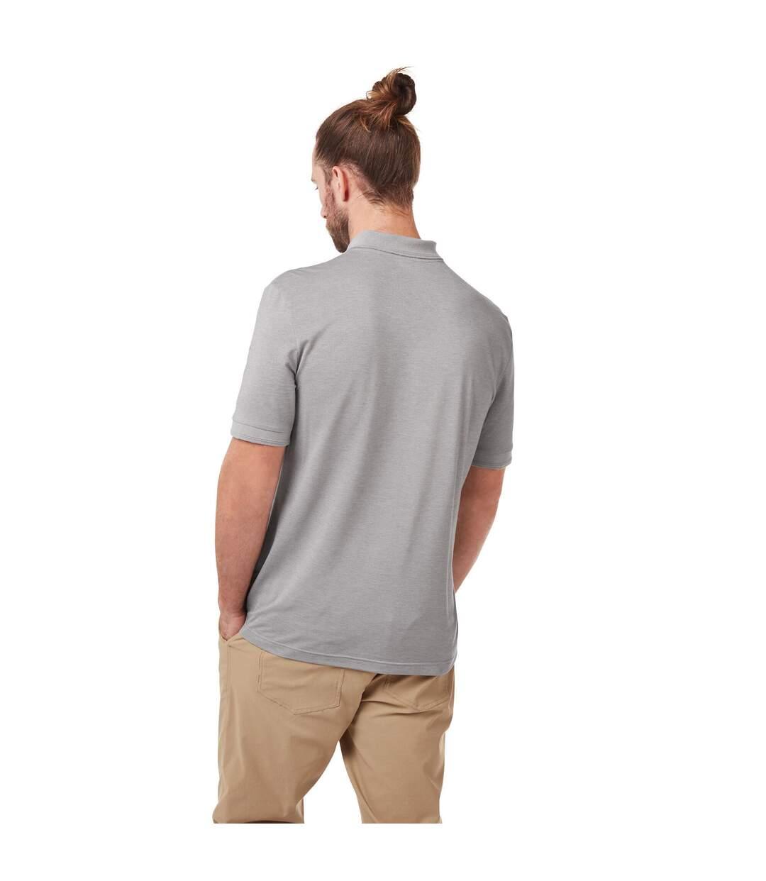 Craghoppers Mens NosiLife Mani Short Sleeved Polo (Light Grey Marl) - UTCG1305