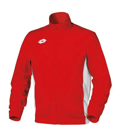 Lotto Mens Delta Full Zip Sweatshirt (Flame/White) - UTRW6198