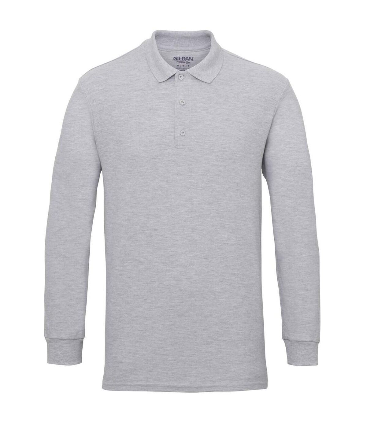 Gildan Mens Long Sleeve Premium Cotton Double Pique Polo Shirt (Navy) - UTRW4740