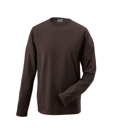 T-shirt stretch homme manches longues - JN056 - marron