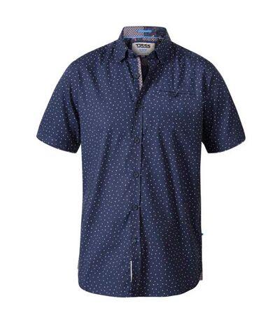 Duke Mens Derwent D555 Micro Print Shirt (Navy) - UTDC271