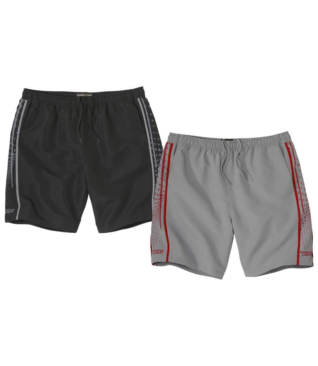 Sada 2 sportovních šortek z mikrovlákna Atlas For Men