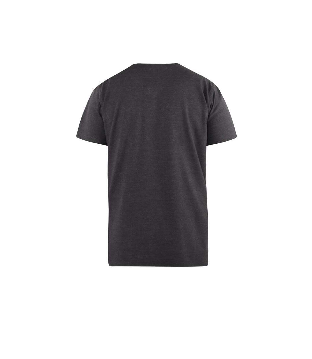 Duke Mens Signature-2 V-Neck T-Shirt (Charcoal Melange) - UTDC167