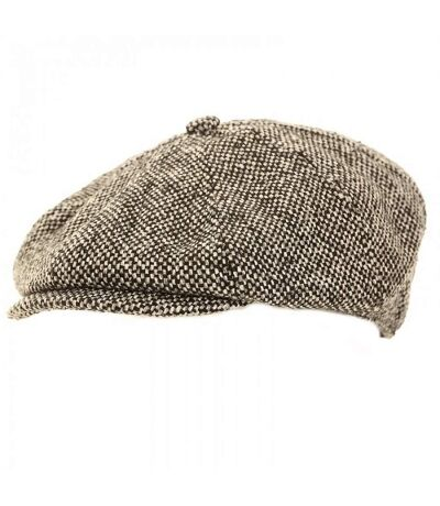 Mens Wool Blend 8 Panel Newsboy Cap (Grey) - UTHA493