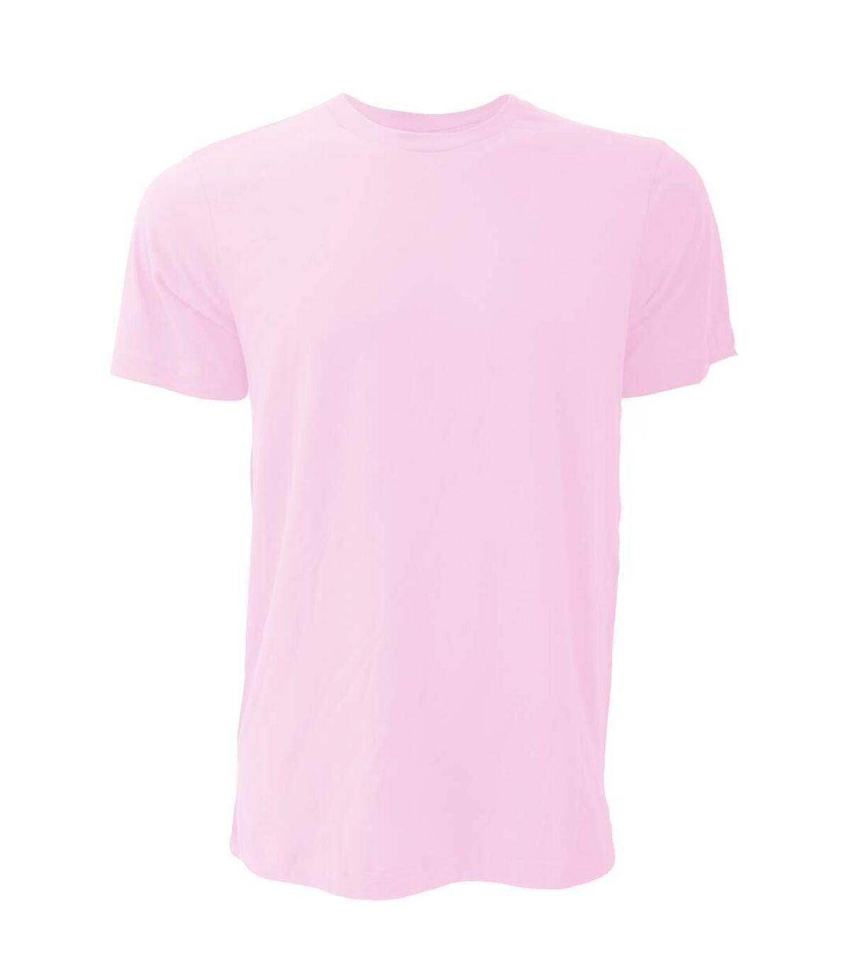 Canvas Unisex Jersey Crew Neck T-Shirt / Mens Short Sleeve T-Shirt (Soft Pink) - UTBC163
