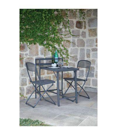 Table de balcon avec chaises Escale - 2 Personnes - Gris anthracite
