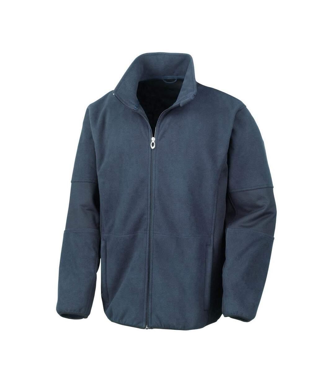 Result Mens Osaka TECH Performance Combined Pile Softshell Waterproof Windproof Jacket (Navy Blue) - UTBC867