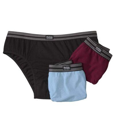 3er-Pack einfarbige Slips