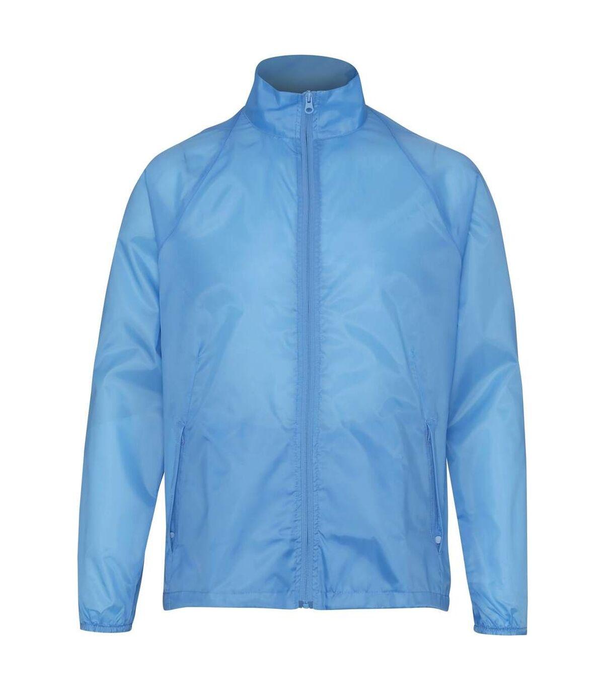 2786 Unisex Lightweight Plain Wind & Shower Resistant Jacket (Sky) - UTRW2500