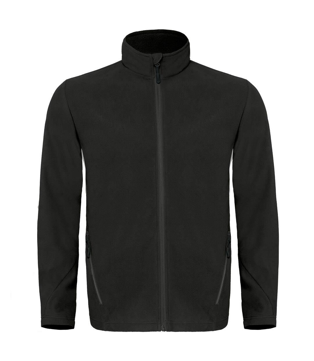 B&C Mens Coolstar Ultra Light Full Zip Fleece Top (Black) - UTRW3033