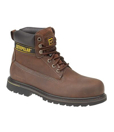 Caterpillar Holton S3 Safety Boot / Mens Boots / Boots Safety (Brown) - UTFS979