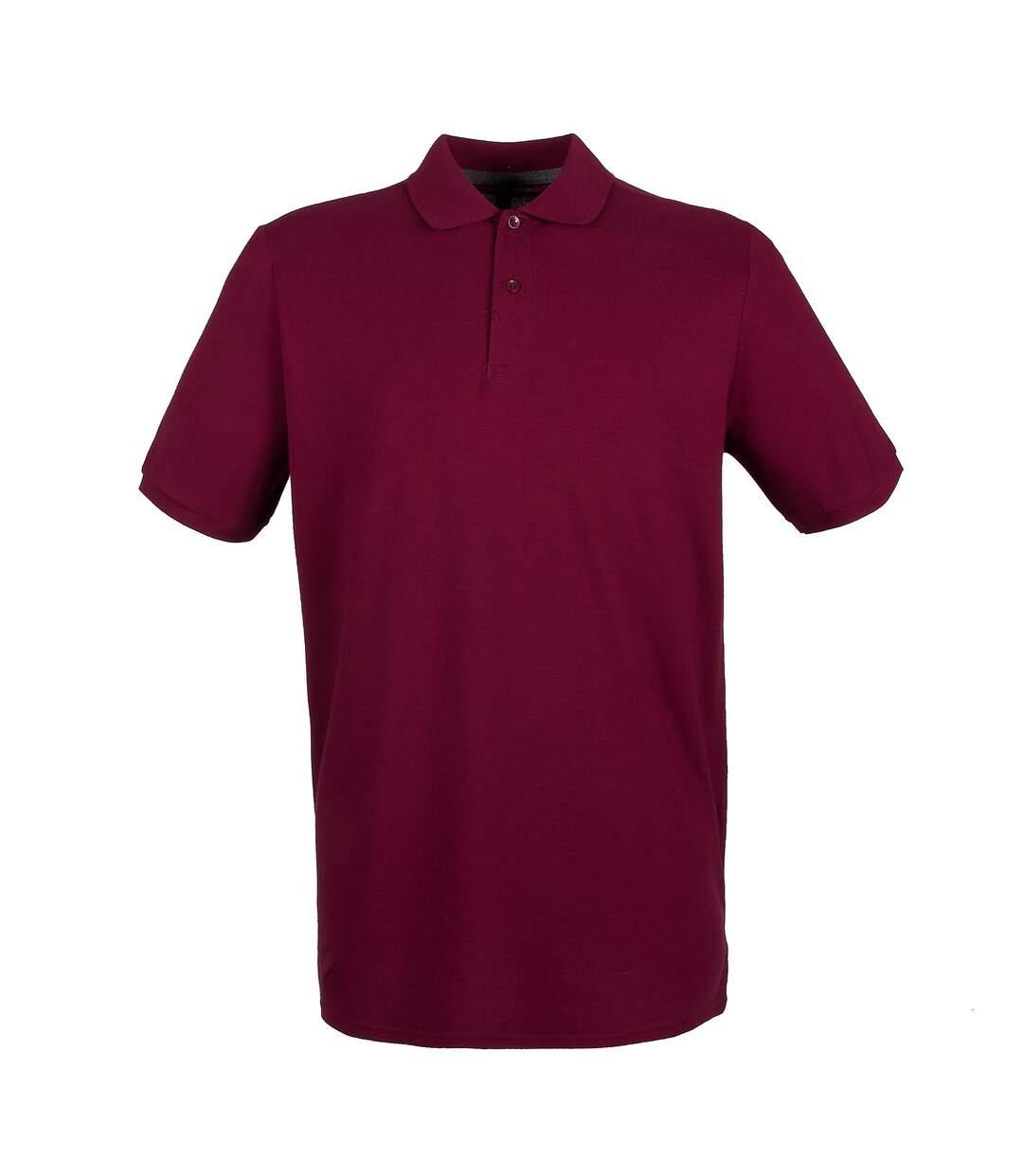 Henbury Mens Modern Fit Cotton Pique Polo Shirt (Burgundy) - UTPC2590