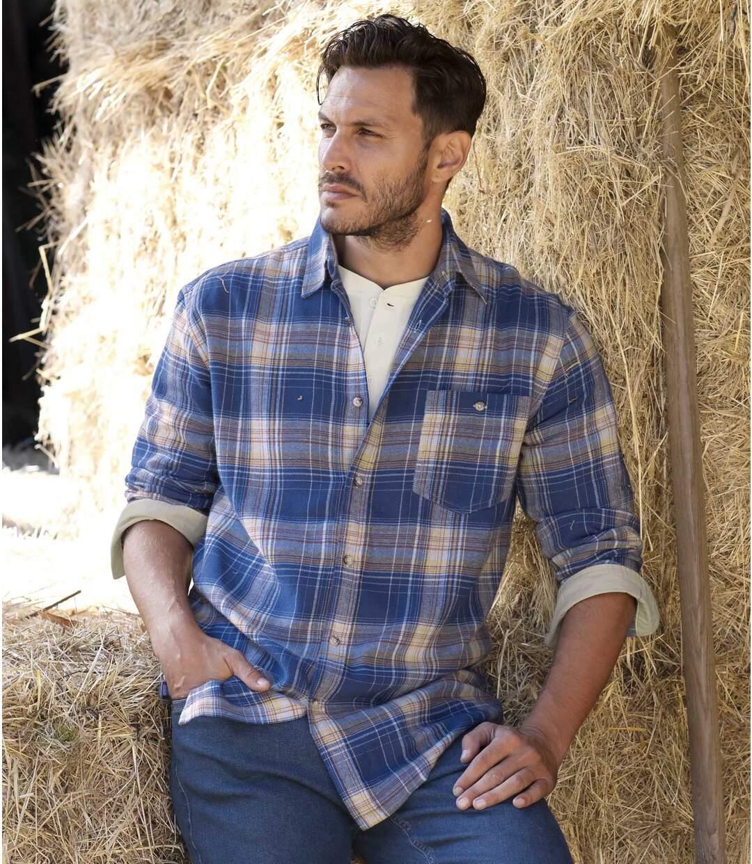 Flanellen overhemd Blue Canyon