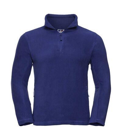 Russell Mens 1/4 Zip Outdoor Fleece Top (Bright Royal) - UTBC1438