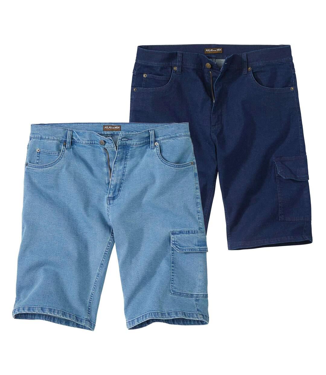Set van 2 korte jeans broeken