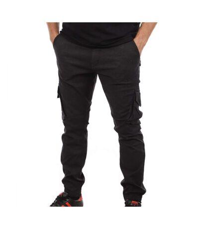 Pantalon Noir Homme Teddy Smith Battle Tweed