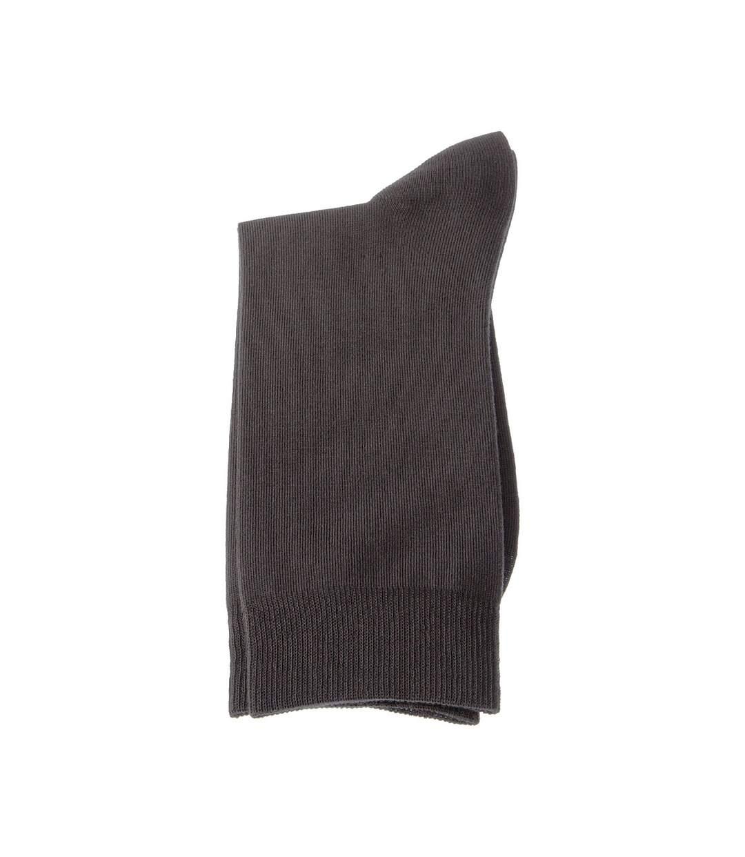 Dégagement Chaussette Niveau mollet 1 paire Coutures plates Sans bouclette Fine Coton Gris foncé dsf.d455nksdKLFHG