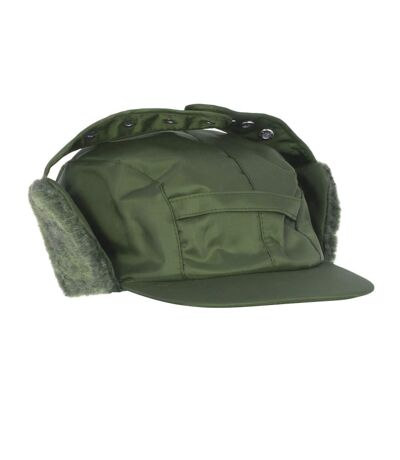Mens Water Proof Thermal Trapper Hat With Ear Flaps (Bottle Green) - UTHA368