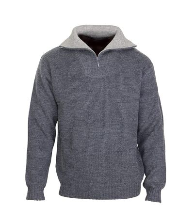 PRIMO4 PULL  LAINE COL CAMIONNEUR ANTH/GRIS
