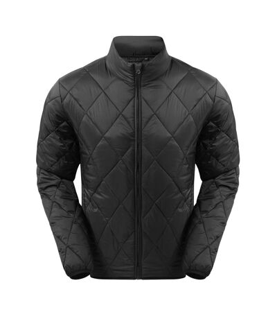 2786 Mens Diamond Pane Padded Jacket (Black) - UTRW7333
