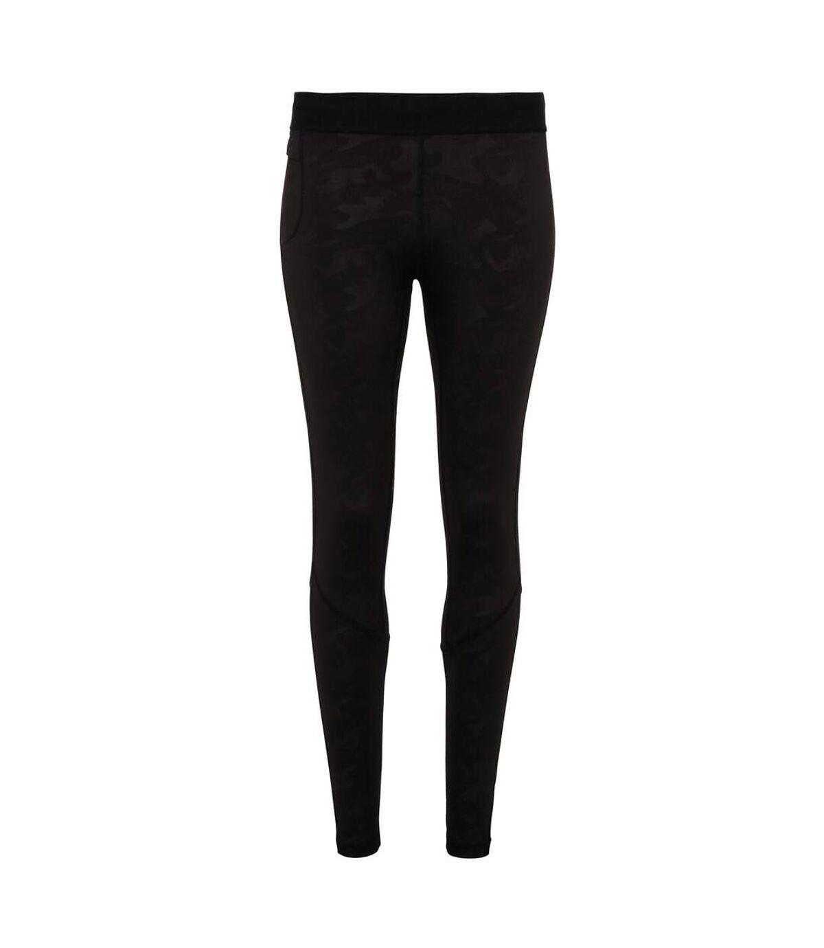 TriDri Mens Training Leggings (Black Camo) - UTRW6121