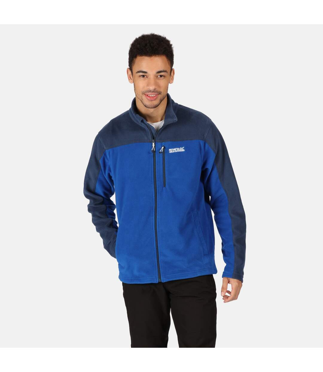 Regatta Mens Fellard Full Zip Fleece (Nautical Blue/Dark Denim) - UTRG5041