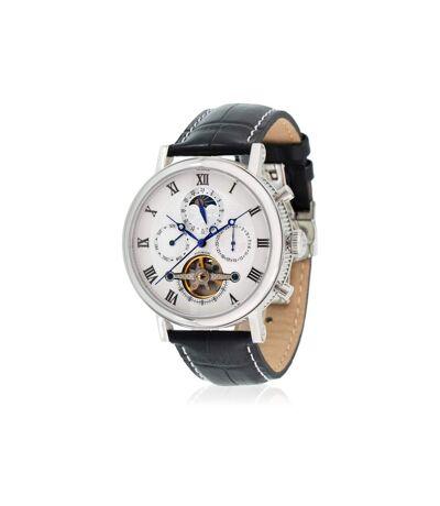 Montre Louis Cottier TRADITION Automatique 42 mm Argenté boitier argenté - bracelet noir - HS3370C3BC1