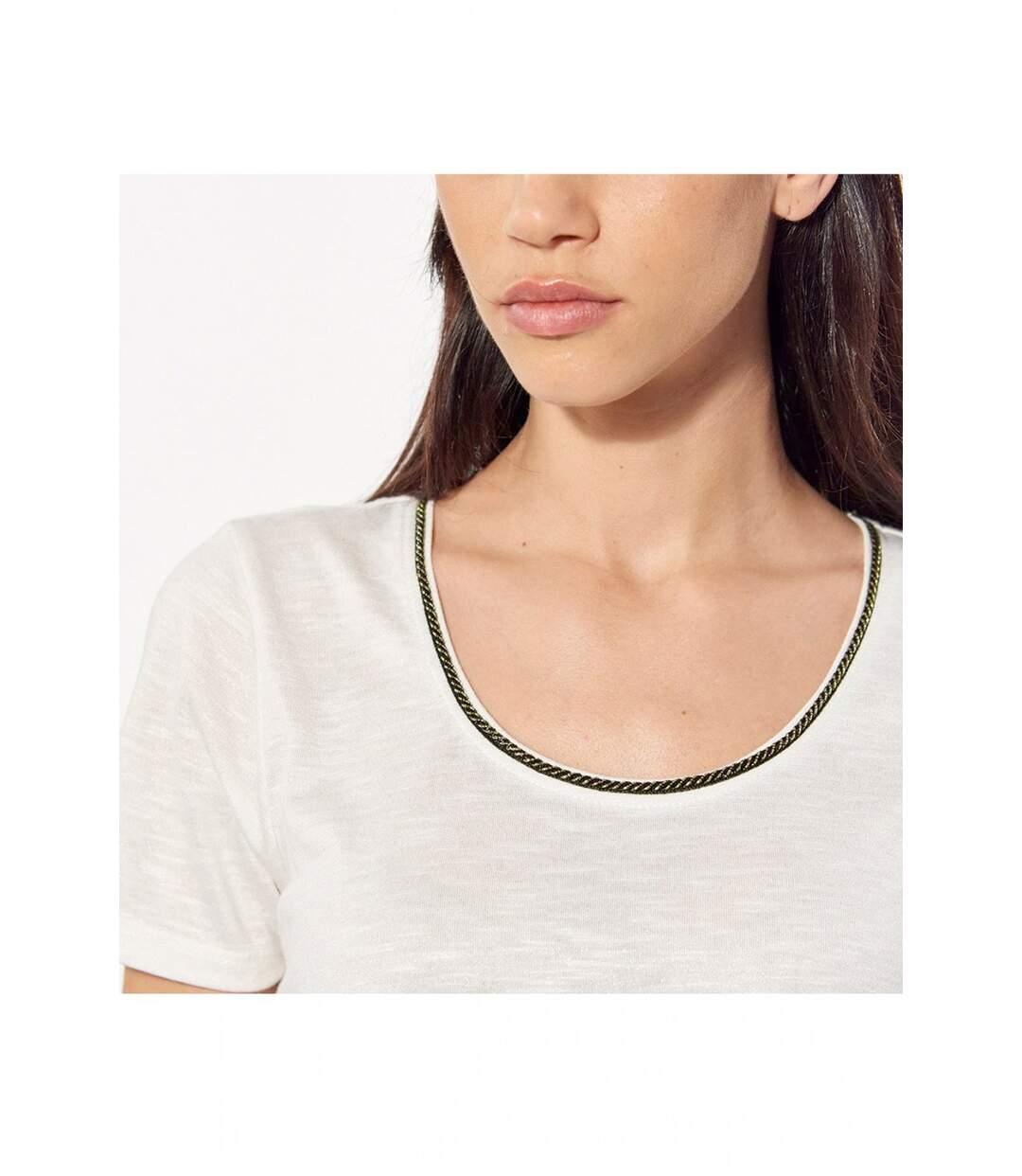 Tee shirt à encolure scintillante   -  Femme - Kaporal