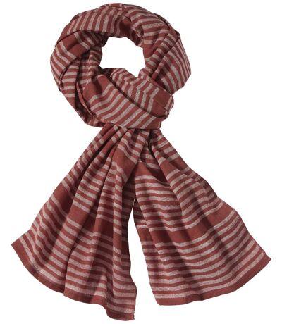 Men's Terracotta Striped Scarf
