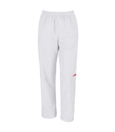 Spiro Mens Micro-Lite Performance Sports Pants / Tracksuit Bottoms (White/Red) - UTRW1473