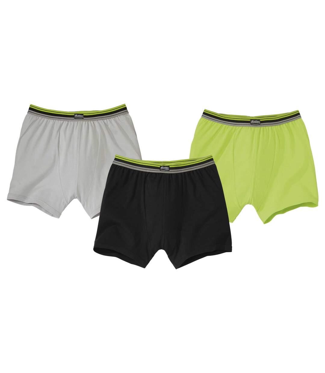 Sada 3 pohodlných strečových boxerek