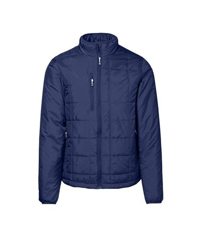 ID Mens Quilted Regular Fitting Full Zip Jacket (Navy) - UTID361