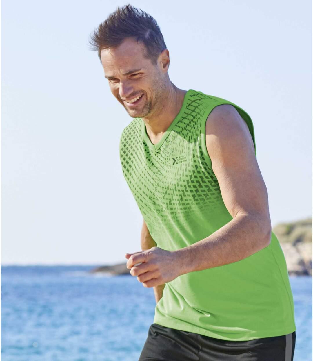 3er-Pack ärmellose T-Shirts Sport