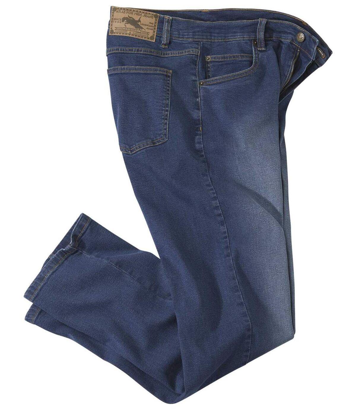 Men's Washed Blue Jeans Atlas For Men