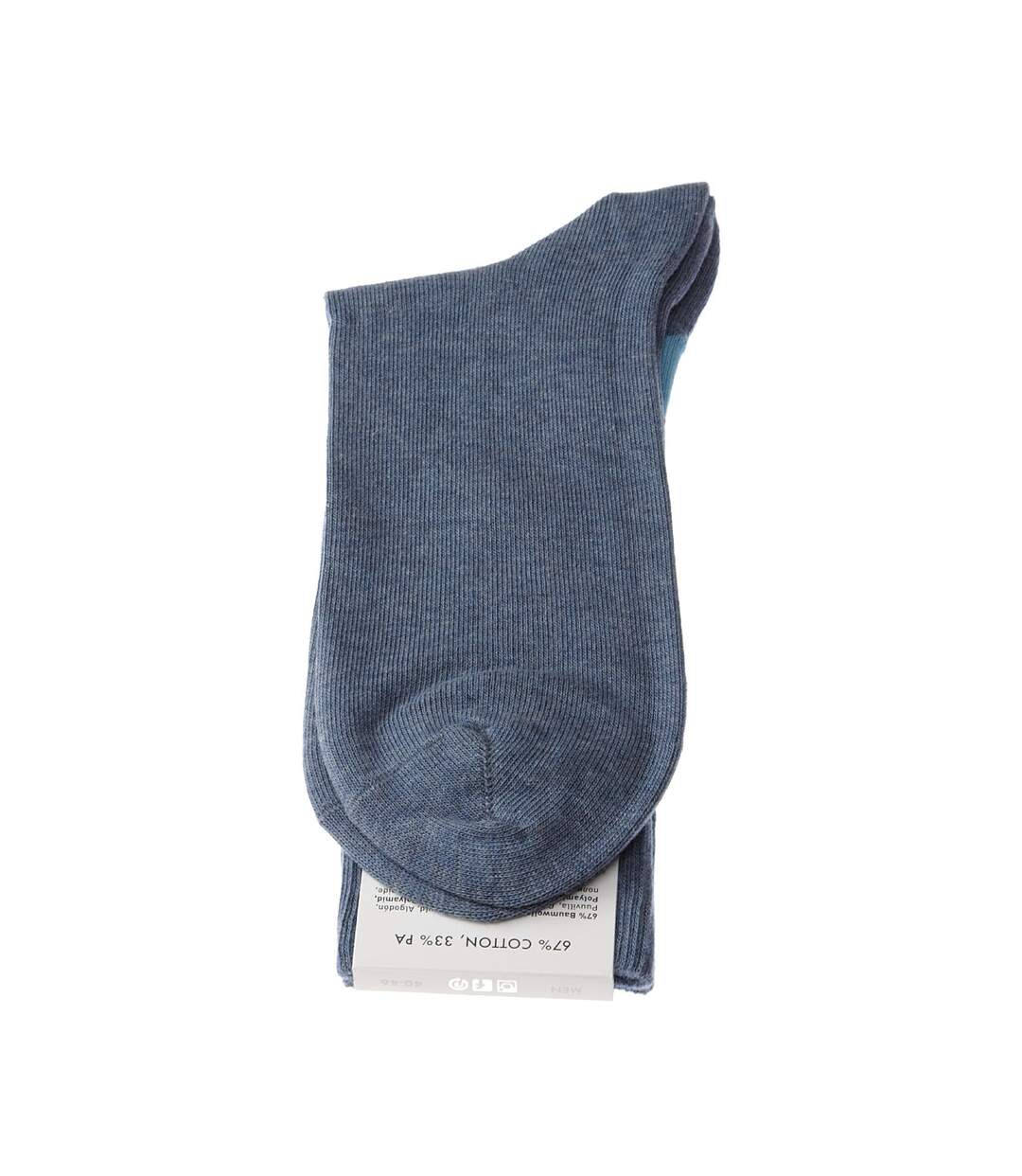 Dégagement Chaussette Mi-Hautes 1 paire Sans bouclette Fashion Coton Bleu King dsf.d455nksdKLFHG