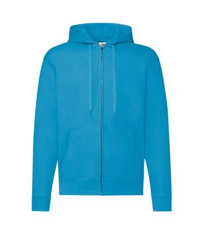 Fruit Of The Loom Mens Hooded Sweatshirt (Azure Blue) - UTBC1369