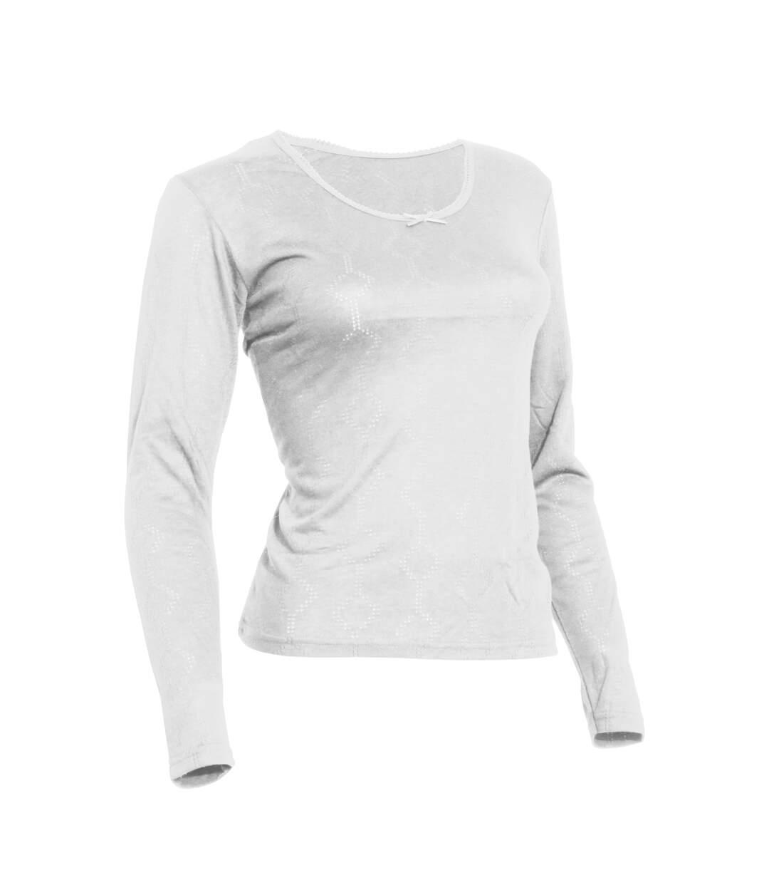 Floso - T-Shirt Thermique À Manches Longues - Femme (Blanc) - UTTHERM134