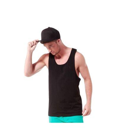 Tanx Mens Vest Sleeveless Vest Top / Muscle Vest (White) - UTRW2869