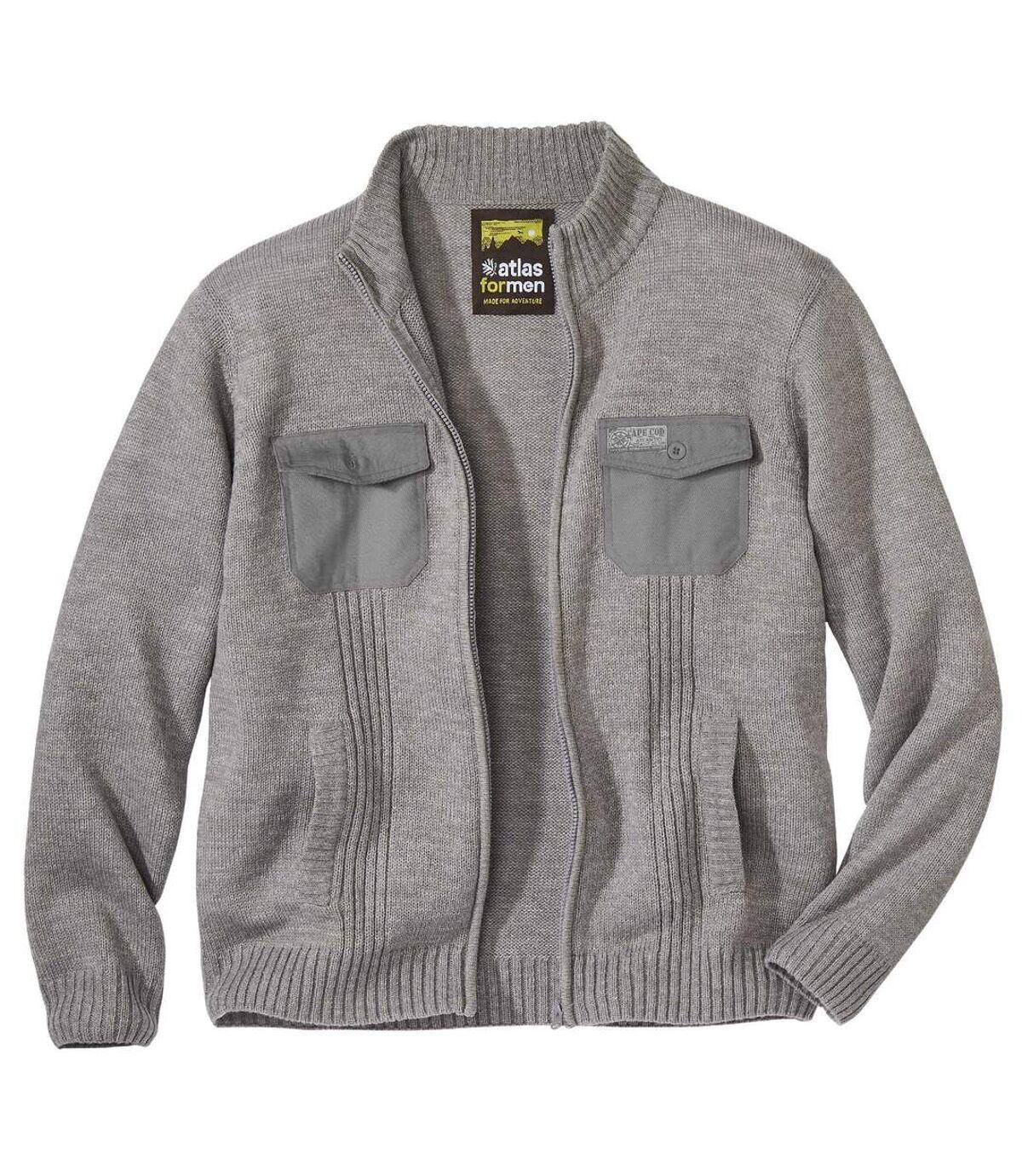 Úpletový sveter na zips Atlas Outdoor Atlas For Men