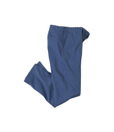 Granatowe spodnie chino ze stretchem  Casual