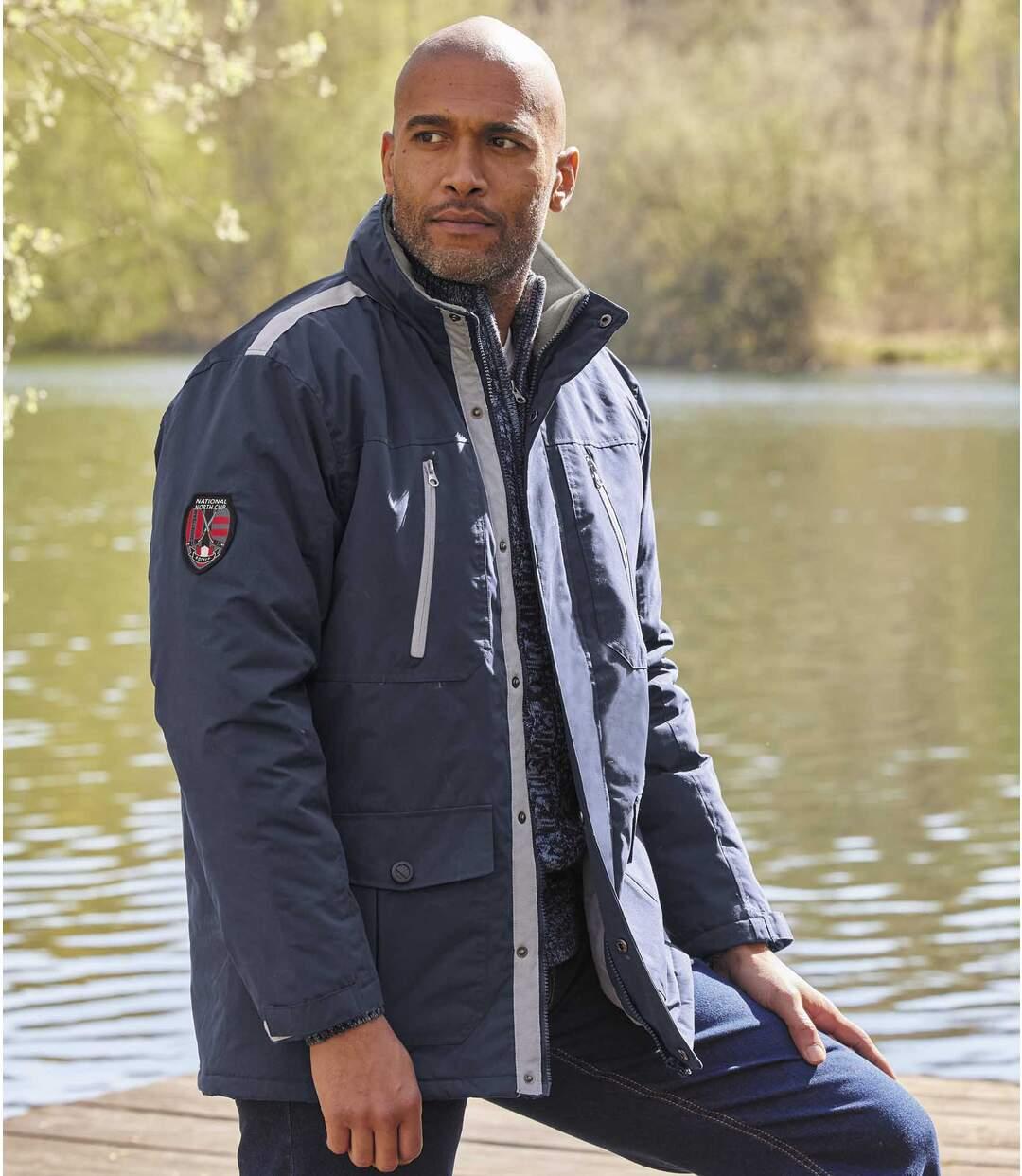 Men's Multi-Pocket Navy Winter Parka Atlas For Men