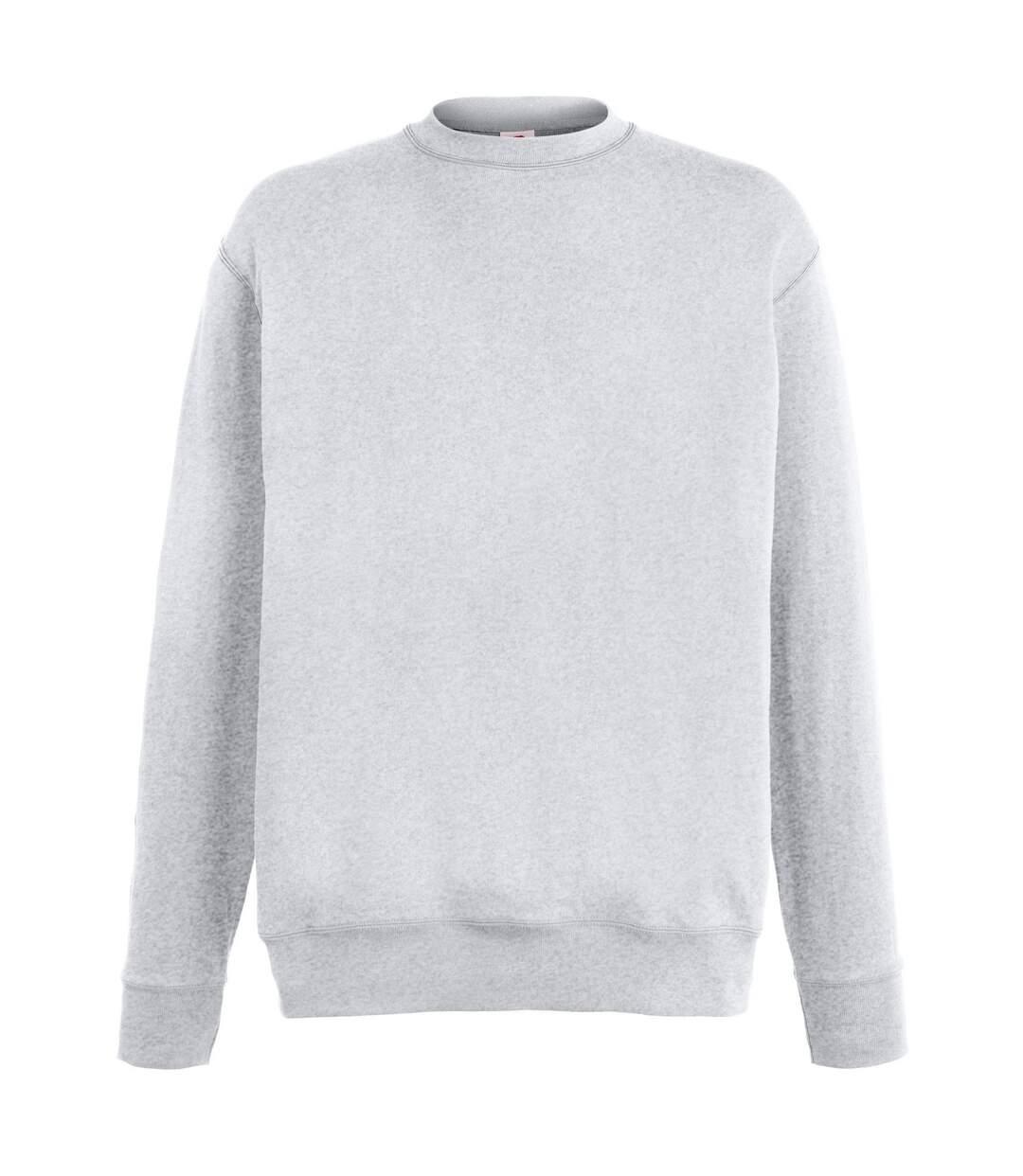 Fruit Of The Loom Mens Lightweight Set-In Sweatshirt (Heather Grey) - UTRW4499