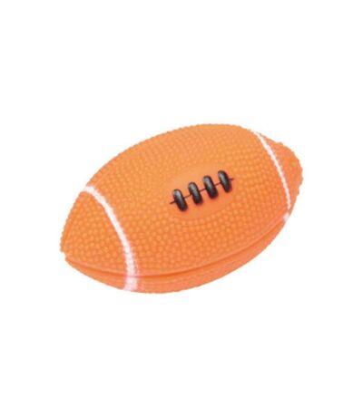 Paris Prix - Jouet Pour Chien balle De Rugby 11cm Orange