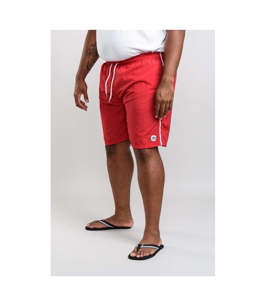 Duke Mens Yarrow D555 Full Length Swim Shorts (Red) - UTDC205