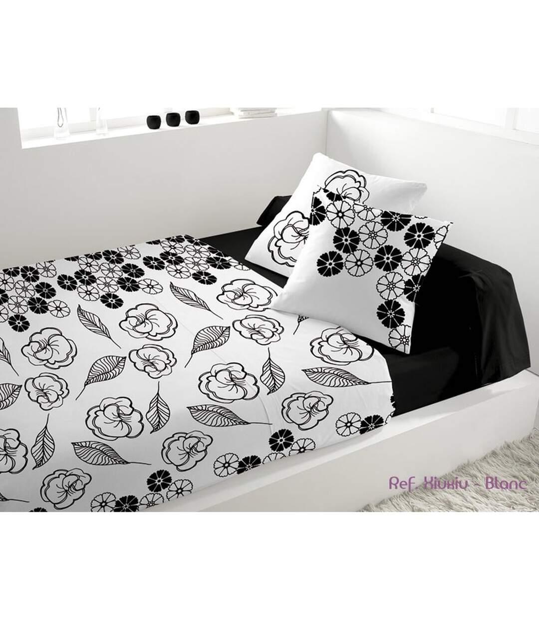 Parure de lit 5 pièces Xiuxiu Blanc - 240 x 300 - Percale