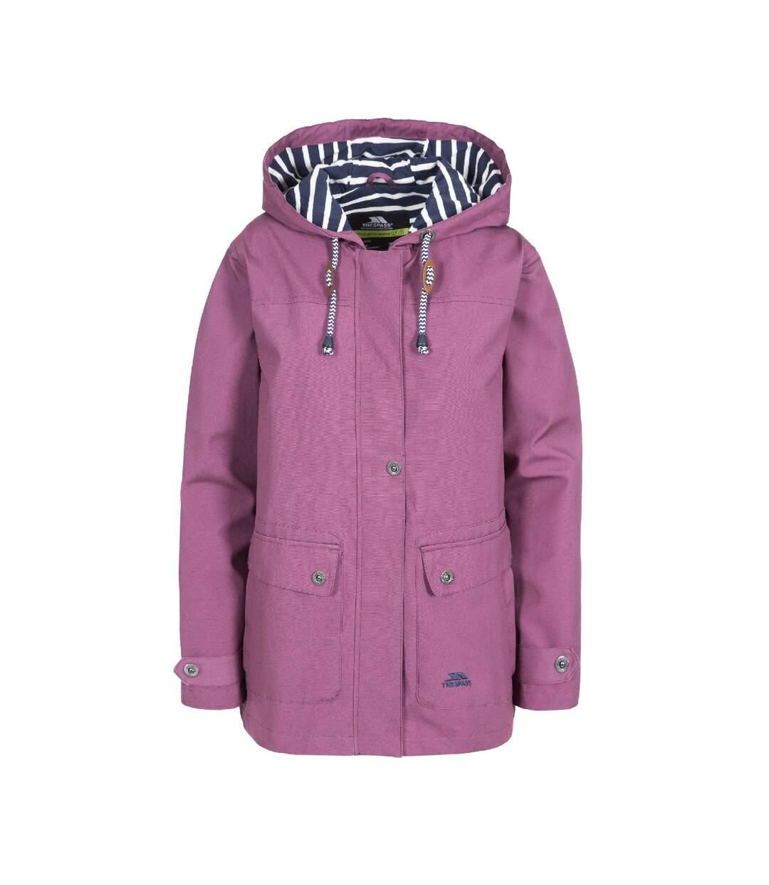 Trespass Womens/Ladies Seawater Waterproof Jacket (Mauve) - UTTP3314