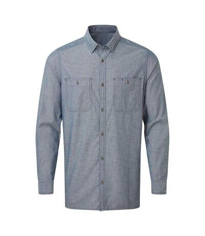 Premier Mens Organic Fairtrade Certified Chambray Shirt (Indigo Denim) - UTRW7982