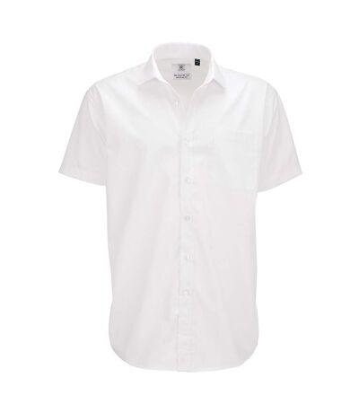 B&C Mens Smart Short Sleeve Shirt / Mens Shirts (White) - UTBC112
