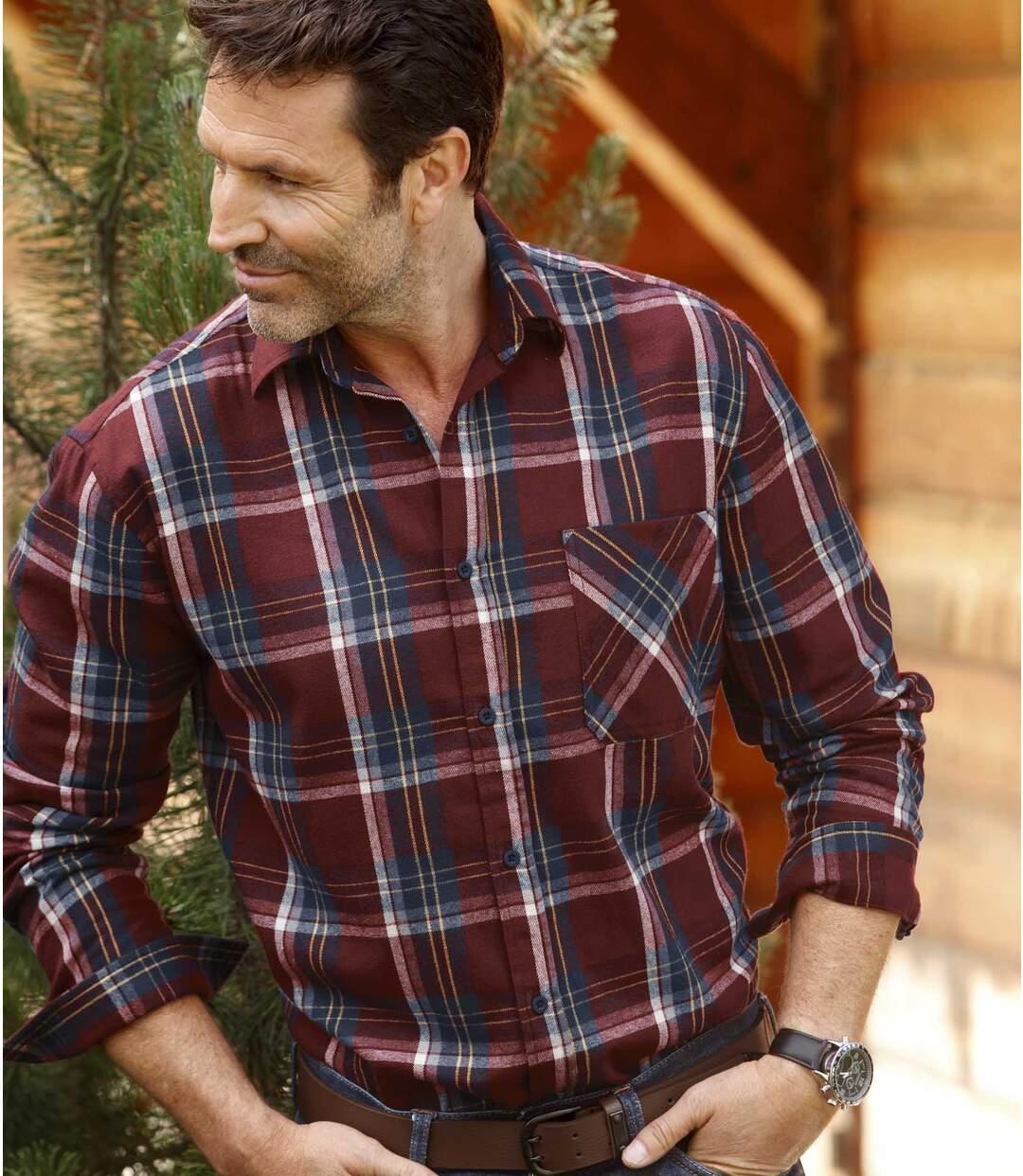Károvaná flanelová košeľa Woods