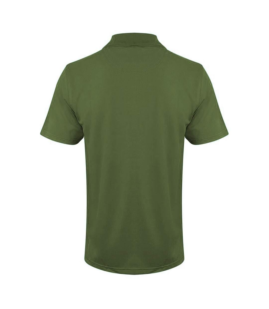 Henbury Mens Coolplus® Pique Polo Shirt (Olive) - UTRW635